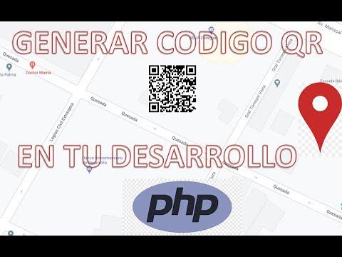 Cómo GENERAR código QR de coordenadas geográficas con PHP